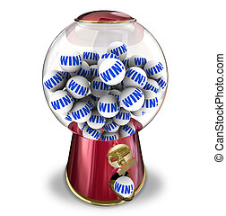 Win Lottery Ball Dispenser Lucky Winner Jackpot - Win word...