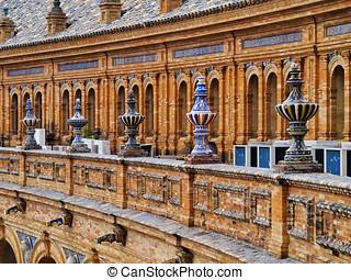 Plaza de Espana in Seville, Spain - Ceramic Detail of...