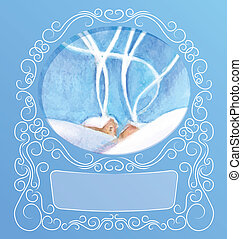 rich decorated elegant ornament background of peek a boo...