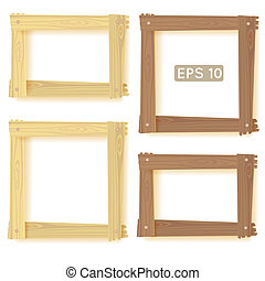 Wooden frames set, picture