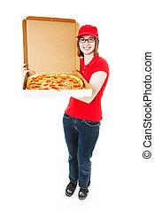 Cute Teenage Pizza Girl