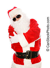 Portrait of Hip Hop Santa - Cool Santa Claus in hip-hop pose...