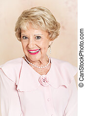 Beautiful Senior Woman - Portrait - Portrait of a beautiful...