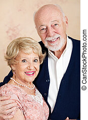 Sophisticated Senior Couple - Portrait of sophisticated...