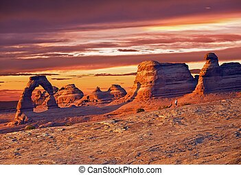 Utah Delicate Arch - Symbol of Utah State. Arches National...