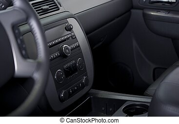 Vehicle Modern Dashboard - Climate Control and Entertainment...