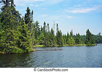 Wild Northern Minnesota. Minnesota Wilderness. Scenic Lake...