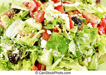 Caesar Salad - Fresh Healthy Caesar Salad - Food Photo...