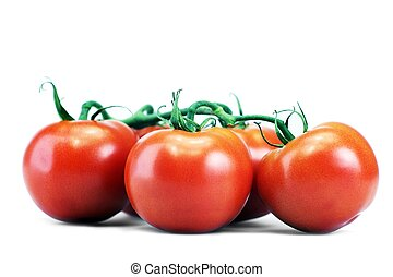 Tomatoes Isolated on White. Fresh Organic Tomatoes on White....