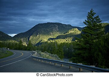 Montana Road - Highway 89 Livingston to Gardiner, Montana....