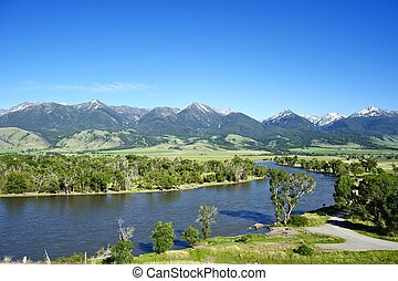 Yellowstone River Near Livingston, Montana, USA Montana...