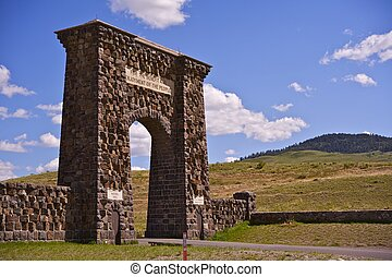 Roosevelt Arch Horizontal Photography - The Roosevelt Arch...