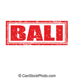 Bali-stamp - Grunge rubber stamp with word Bali,vector...