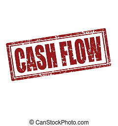 Cash Flow-stamp - Grunge rubber stamp with text Cash...