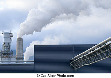 Industry - Detail of a modern industrial building with...