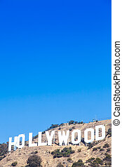 Hollywood - Famous Hollywood landmark in Los Angeles,...