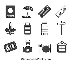 Silhouette Travel icons - Silhouette Travel, Holiday and...