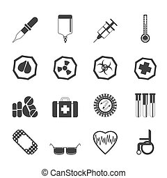 Silhouette Simple medical icons
