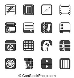 Silhouette Business icons