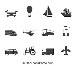 Silhouette Transportation icons - Silhouette Transportation...