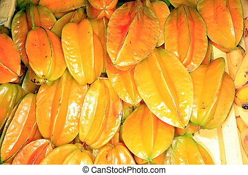 star fruit - yellow star fruit