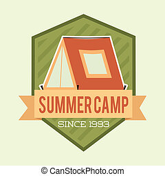 camping design over white background vector illustration