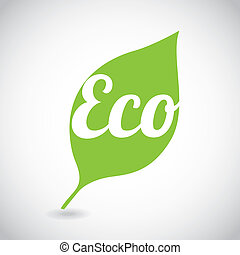 eco design over gray background vector illustration