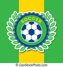 brazil design over flag background vector illustration
