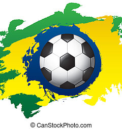 brazil design over  painted background vector illustration