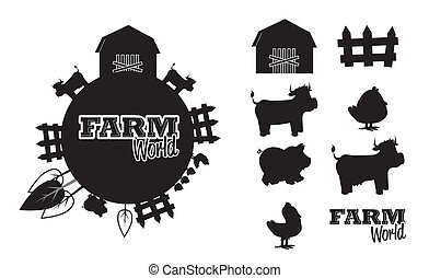 farm design over white  background vector illustration
