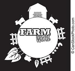 farm design over  black background vector illustration