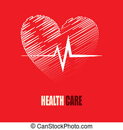 health care design over red background vector illustration