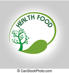 health food label - health food label over gray background...