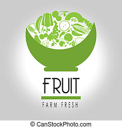 fruit label over gray background vector illustration