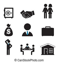 finances icons over white background vector illustration