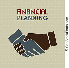 financial planning illustration over dotted background....