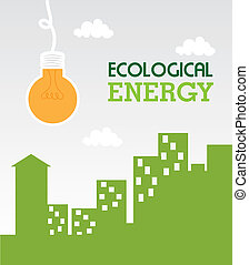ecological energy design over sky background vector...