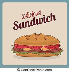 fast food over pink background vector illustration