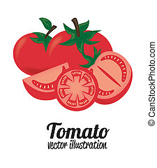 tomatoes design  over white  background vector illustration
