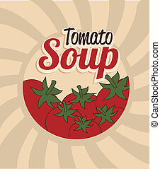 tomato soup design over grunge background vector...