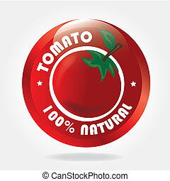 tomato design  over white  background vector illustration