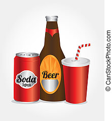 drinks icons over white  background vector illustration