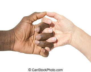 Mixity  - Two joint hands symbolizing mixity and diversity