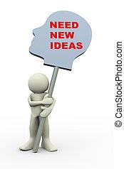 3d man - human head new ideas