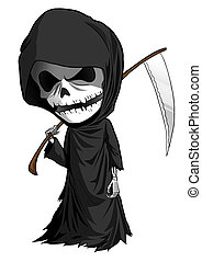 Grim Reaper Cartoon - Cartoon illustration of grim reaper...