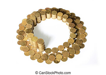 rouble - certain amount of the coins rouble as element of...