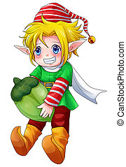 Elf Boy - Cartoon illustration of character for Christmas