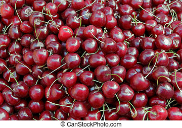 Background cherry - Image of background fresh dark red...