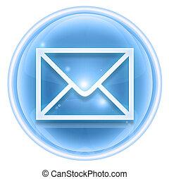 postal envelope icon ice, isolated on white background