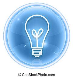 Light Bulb Icon ice, isolated on white background